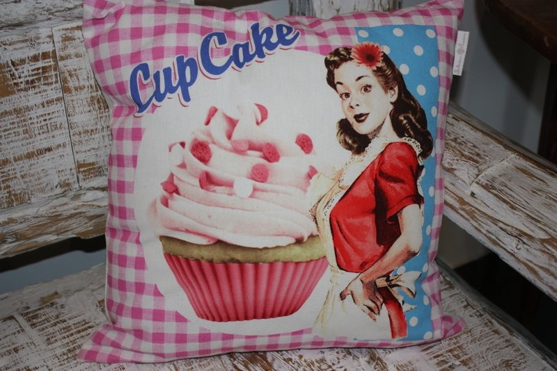 Coussin vintage – Cupcake