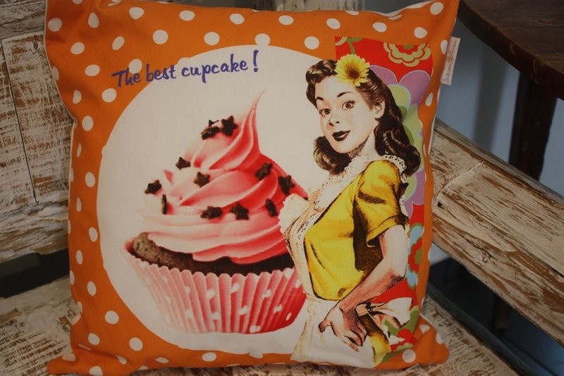 Coussin vintage – The best cupcake !