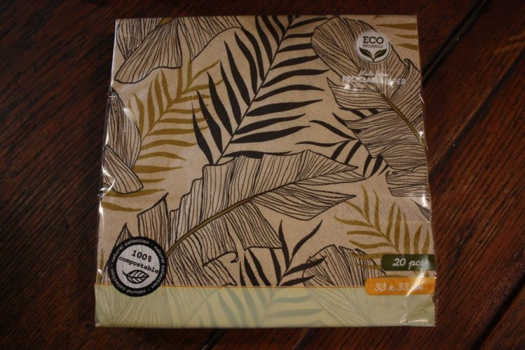Serviette en papier motif Tropical