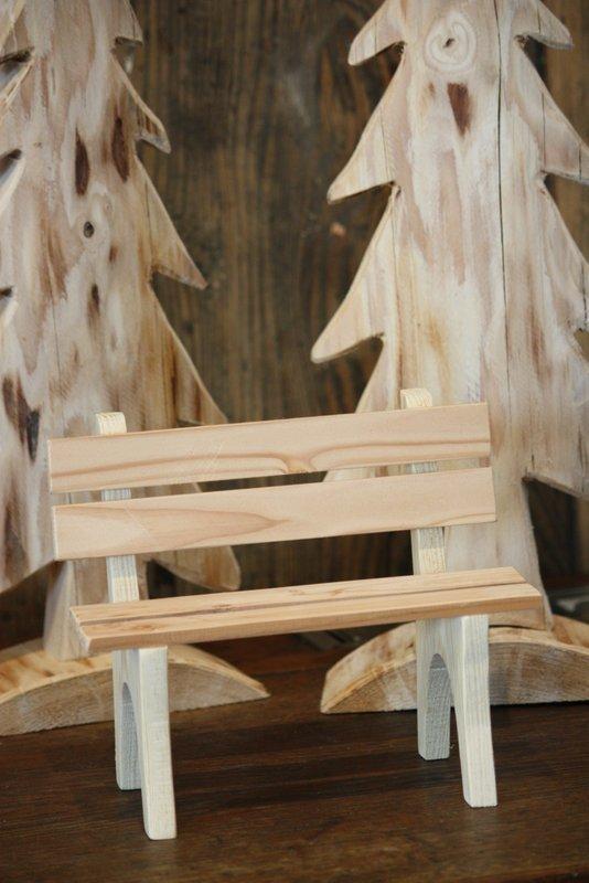 Banc décoratif en bois avec dossier – Moyen modèle