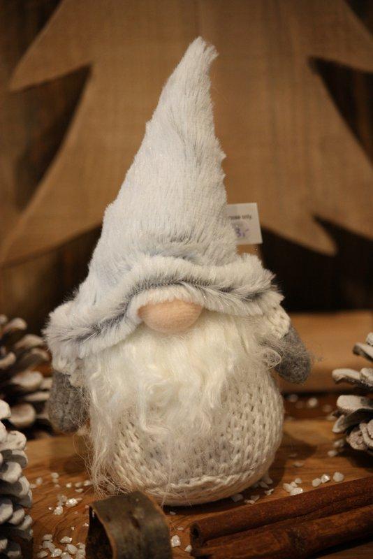 Lutin – Le petit lutin blanc au bonnet gris